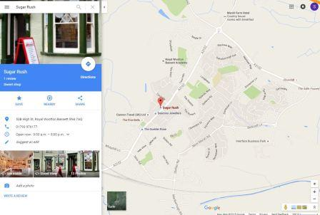 Google My Business Results on Maps