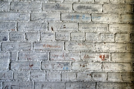 Hundreds of inscriptions cover the walls