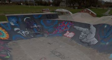 The Skate Park in all its colourful glory