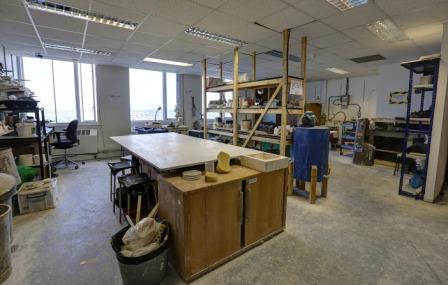 One of the spacious studios at Create Space London