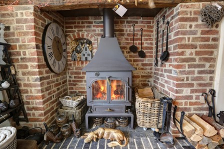 Feel the Warmth from the Woodburners on Display
