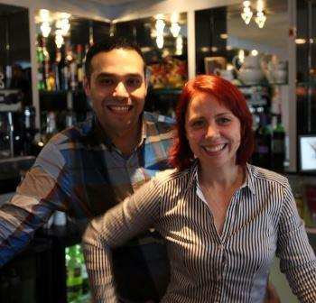 Owners Mohsen and Zuzana